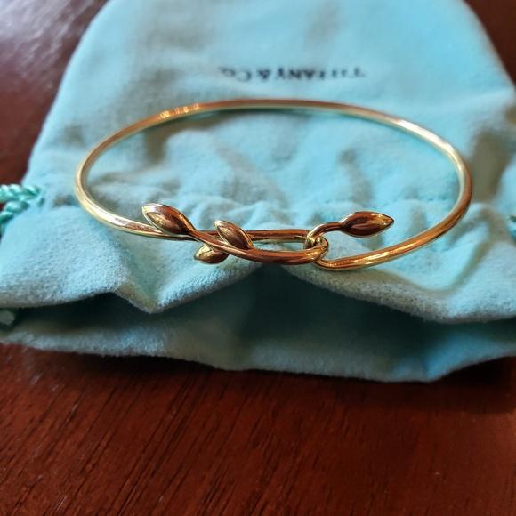 5b5c950ff Tiffany & Co. Jewelry | Authentic Tiffany Co Olive Leaf Hook Bangle ...